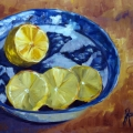 Lemons In Blue Willow Bowl