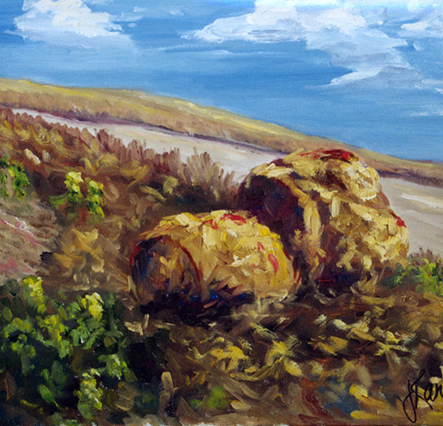hay-bales-on-hillside-11x14