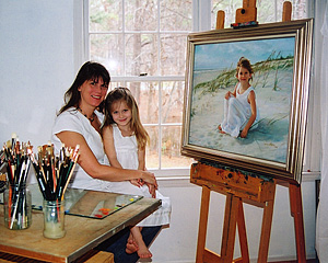 Jenny in the studio