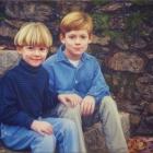 Alex and Sam 3/4 pastel portrait
