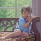 Cade full-length pastel portrait
