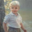 Darren 3/4 pastel portrait
