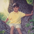 Mtichel full-length pastel portrait