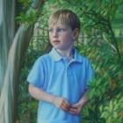 Ty full-length pastel portrait