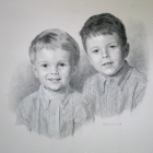 Boys charcoal portrait