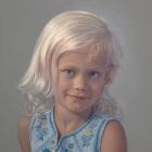 Emma, head and shoulders pastel portrait