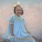 Sterling, 3/4 length pastel portrait of girl
